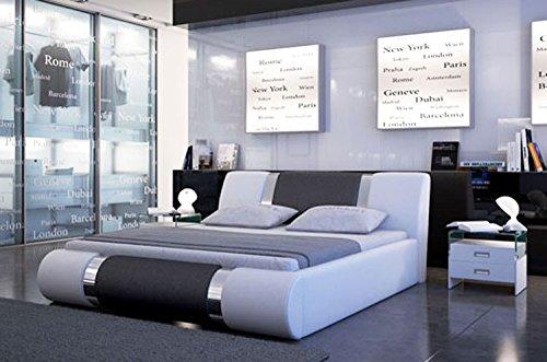 Camas y muebles-Cama de dibujo Alicante 2, color blanco y negro y blanco: Amazon.es: Hogar