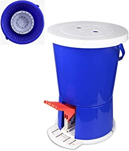 JFFFFWI Mini Portable Foot Powered Clothes Washer Non-Electric Manual Washing Machine Spin Dryer Suitable for Dormitory,Single,Exercise with Drain Basket