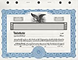 KG 3 Stock Certificate, Blue Border, Pack of 15