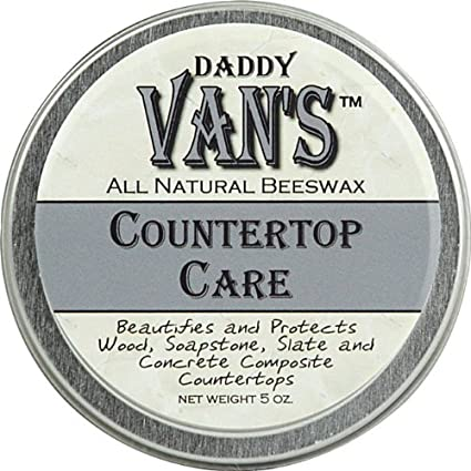 Daddy Vanu0027s All Natural Beeswax Countertop Care For Soapstone, Slate,  Concrete Composite And Butcher
