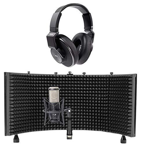 AKG P420 Studio Condenser Recording Microphone+Headphones+Isolation -