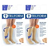 Truform Compression 20-30 mmHg Knee High Dot Top Stocking Beige, X-Large, 2 Count