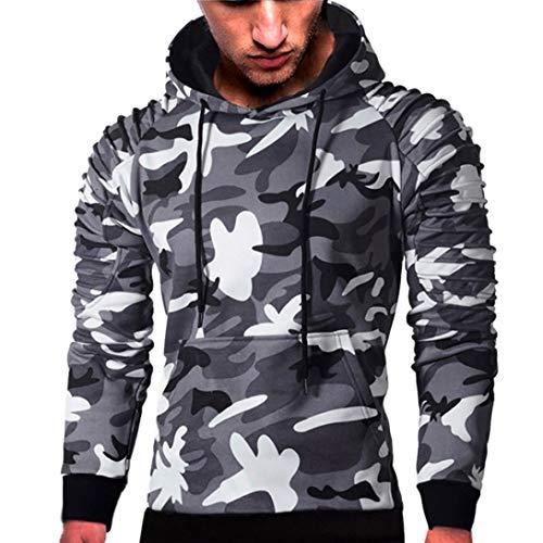 Leggings Canyon Denim (kaifongfu Sweater Tops,Men Long Sleeve Camouflage Sweatshirt Outwear Blouse Mens Tee Tops(Dark Gray,L))