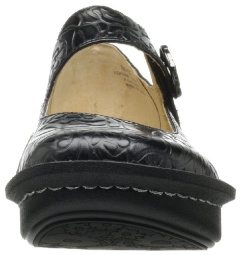 Black Embossed Rose Women's Paloma Flat Alegria 6vtq4I