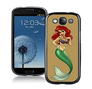 Samsung Galaxy S3 Case,little mermaid For Samsung Galaxy S3 i9300 Black Case Cover