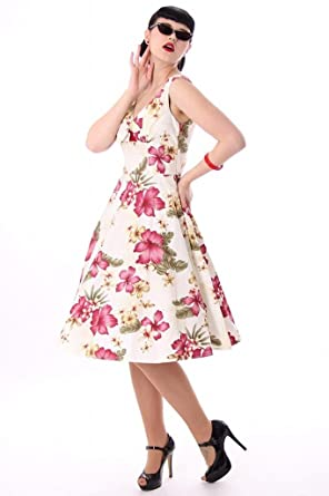 Sugar Shock 50s retro Pin Up OAHU Hawaii Flower Swing Petticoat ...