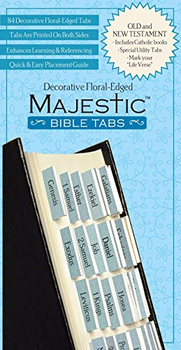Bible Tab-Majestic-Floral Edged