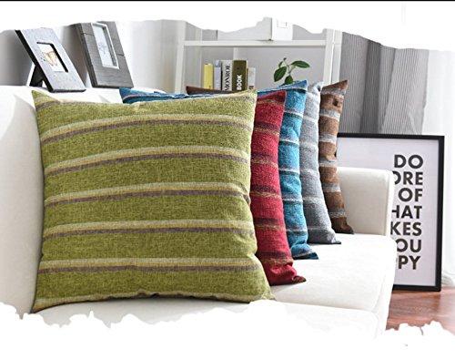 45 cm Fablcrew Kissenbezug Auto und B/üro aus Leinen Muster Streifen Kissenh/ülle Dekorative Sofakissen Lendenkissen 45