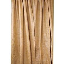 LA Linen™ Burlap window curtain panel. Made in USA
