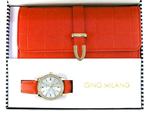 Ladies Wallet Sets With Matching Watch -Red by Gino Milano (Image #1)