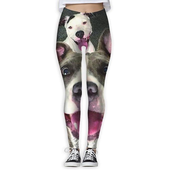 e34c22a4216d21 Amazon.com: Women Soft Basic Cute Suger Pitbull Dog Ugly Full-Length ...