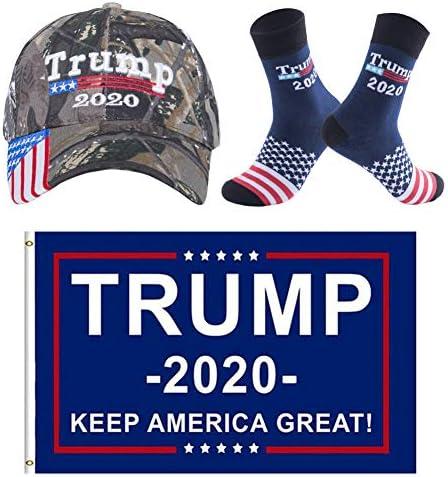 트럼프 2020 모자 및 양말 대통령 도널드 트럼프 2020 깃발 3X5 피트 Keep America Great MAGA 남성용 여성용 카모... / 트럼프 2020 모자 및 양말 대통령 도널드 트럼프 2020 깃발 3X5 피트 Keep America Great MAGA 남성용 여성용 카모...