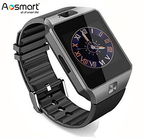 Bluetooth Smart Watch with Camera, Aosmart DZ09 Smartwatch for Android Smartphones