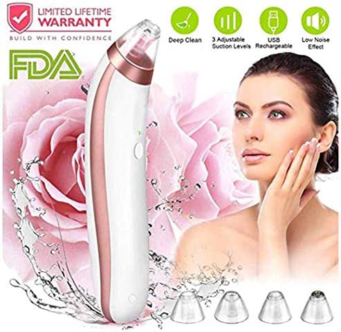 Huaaag Blackhead Remover,Blackhead Removal Peel Tool Extractor Electric Skin Pore Cleaner,Rechargeable Acne Eliminator Microdermabrasion Device for Nose Face Men Women