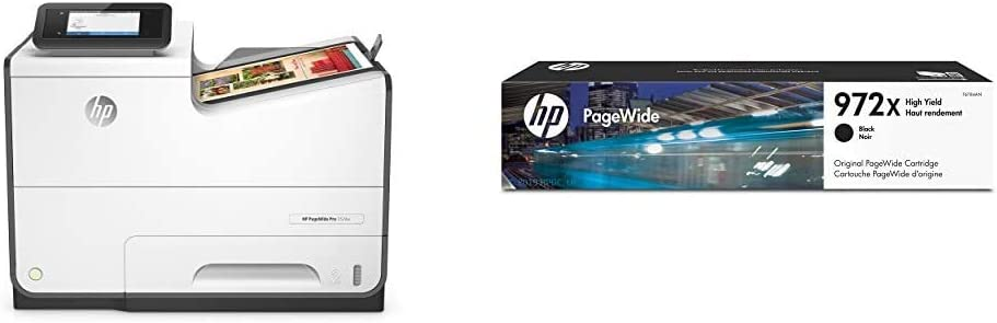 HP PageWide Pro 552DW Color Business Printer, Wireless & 2-Sided Duplex Printing (D3Q17A) with High Yield Black Ink Cartridges