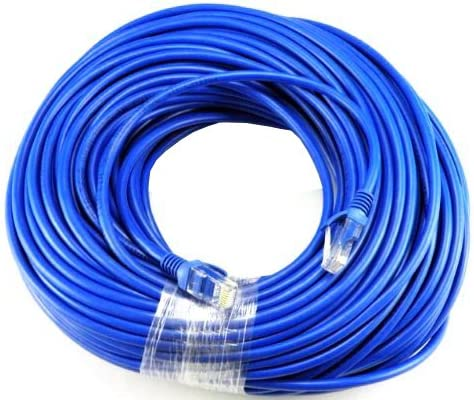 Brand New 150FT 150 FT RJ45 CAT5 CAT5E Ethernet Patch LAN Network Black Cable