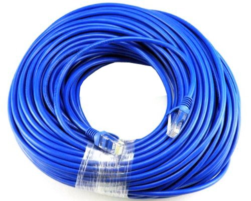 BLUE Gold Plated 50FT CAT5 CAT5e RJ45 PATCH ETHERNET NETWORK CABLE 50 FT For PC, Mac, Laptop, PS2, PS3, XBox, and XBox 360 to hook up on high speed internet (Apple Ethernet Laptops)