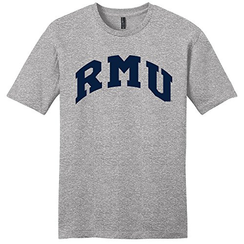 Campus Merchandise NCAA Robert Morris Colonials Arch Soft Style T-Shirt, Large, Light Heather Grey