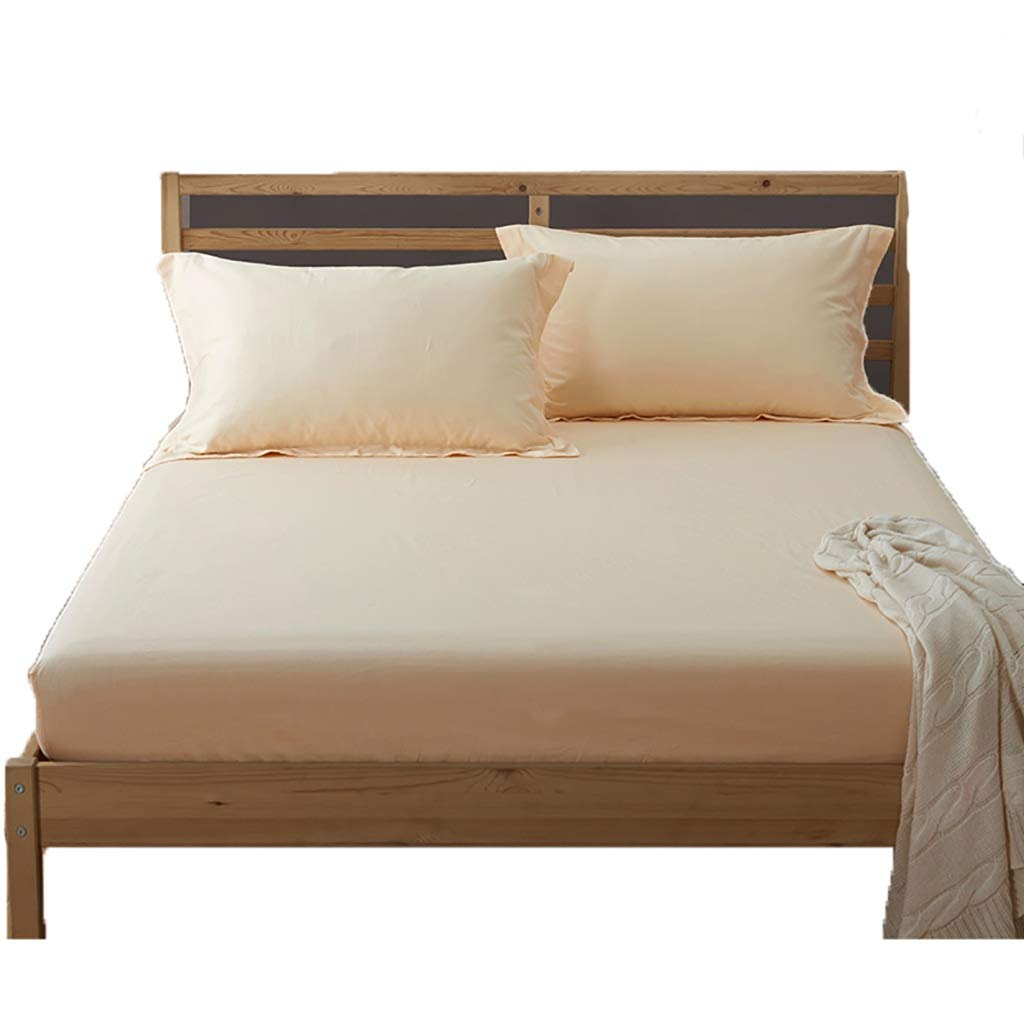 LFY Atmungsaktiver Matratzenschutz aus 100% Baumwolle - Standard UK King, Super King Bettdecke (Farbe   Beige, größe   King)
