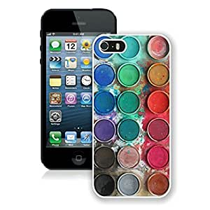 BINGO new arrived Watercolor Sets Witeh Brushes iPhone 5 5S Case White Cover 14 by lolosakes
