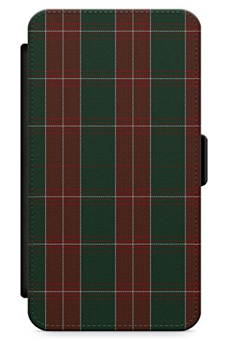 (iPhone 5 Case, iPhone 5s, iPhone SE St. David's Tartan Phone Case by Casechimp | Premium Leather Flip Wallet Card Holder Slots | Pattern Wales Rugby Kilt Football)