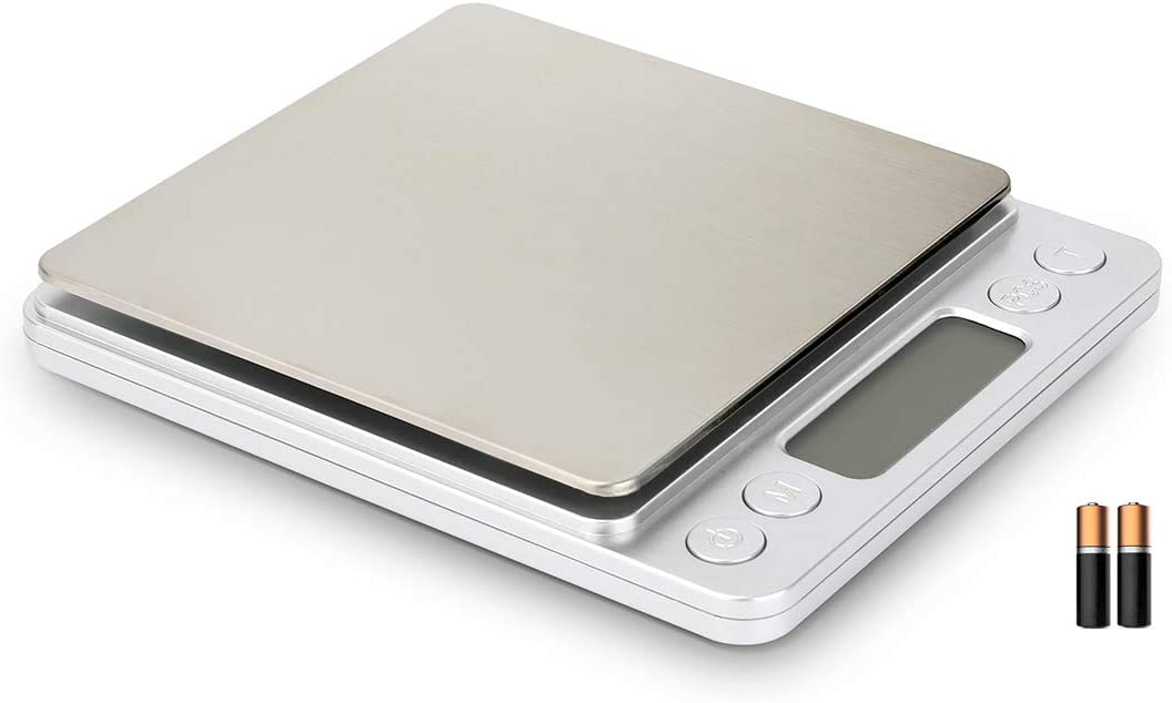 Digital kitchen Scale, Jewelry Balance Weight, Portable Mini Electronic Food Scales, Stainless Steel Mini/Pocket Scales, With Tray, Battery Included