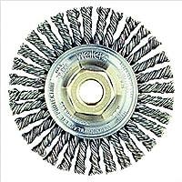 """Weiler 13131 Stringer Bead Knot Wire Wheel, 4"""" Diameter x 3/16"""" W, 5/8-11 UNC, 0.02"""", 20000 rpm"""