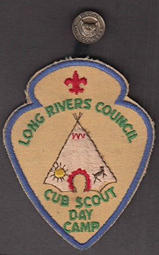Long Rivers Council Boy Scout Cub Scout Day Camp patch & Bobcat button Council Boy Scout Patch
