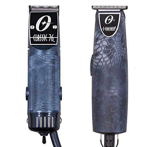 Oster Classic 76 Professional clipper Snake Skin Color Kryptec + T-Finisher Pro by Oster