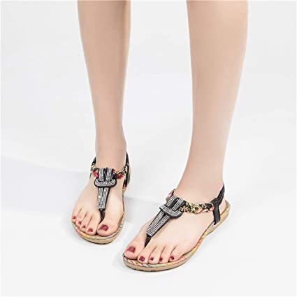 bd45c70a3c9cf6 Image Unavailable. Image not available for. Color  Women Sandals Rhinestones  ❤ Vanvler Ladies Crystal T-Strap Roma Slipper Casual Shoes Flip Flop