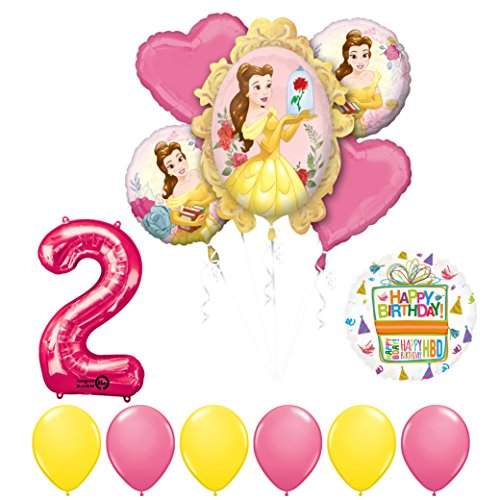 Beauty and The Beast 2nd Birthday Party Balloon supplies decorations -