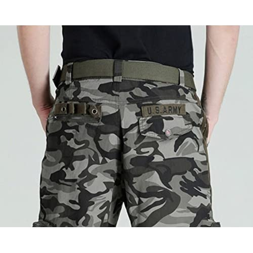 8f34d238dff Chouyatou Men s Active Army Stylish Multi-Pocket Camouflage Cargo Shorts  85%OFF