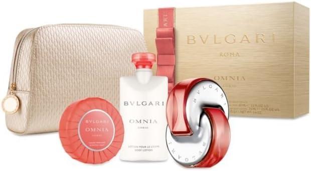 Bulgari Omnia Coral - Estuche de regalo (eau de toilette, 65 ml + loción corporal, 75 ml + jabón, 50 g + bolsa): Amazon.es: Belleza