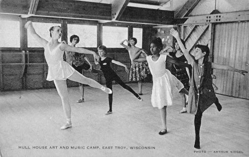 East Troy Wisconsin Hull House Art and Music Camp Vintage Postcard JJ649583