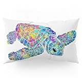 Society6 Colorful Sea Turtle Pillow Sham King (20'' x 36'') Set of 2