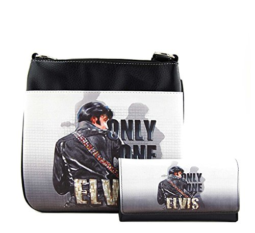 Elvis Presley Black Leather (Elvis Presley Messenger Bag Wallet Set, ONLY ONE)