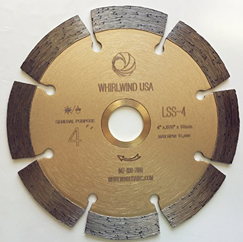 in. Dry or Wet Cutting General Purpose Power Saw Segmented Diamond Blades for Masonry Brick/Block Pavers Concrete Stone (Factory Direct Sale) (4