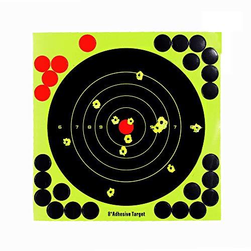 Shooting Targets 10 Pack Self Adhesive Paper Splatter Reactive Targets Stickers for Air Rifle BB Pistol Airsoft Guns Pistol Gun Pellet Gun Air Rifle