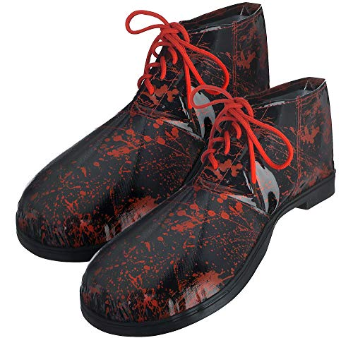 amscan Bloody Clown Shoes Halloween Costume Accessories for Adults, One Size