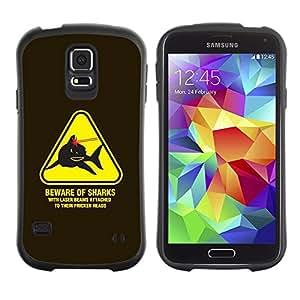 Suave TPU Caso Carcasa de Caucho Funda para Samsung Galaxy S5 SM-G900 / Danger Warning Lasers Powers Austin / STRONG