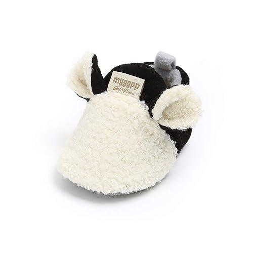 Cálidos Botines de Lana Bebé Invierno Zapatillas Soft Sole Crib Caliente  Zapatos de Niñas Algodón ( 6ed20953b0dd
