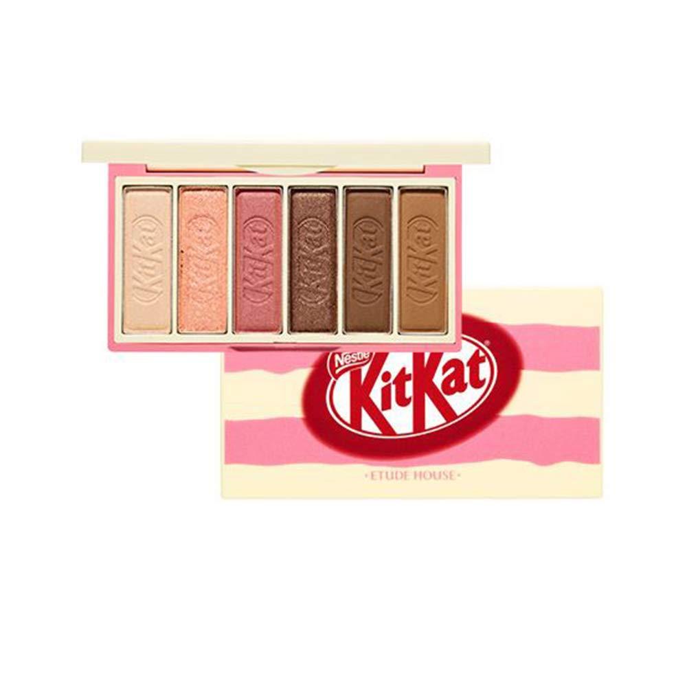 Ettude House X Kitkat Play Color Eyes Mini Eyeshadow Tiramisu Palette 6 Eyeshadow Colors In A Sweet Package Like Kitkat Doing Various Eye Makeup Matte Shemmer Glitter Type Eyeshadow Dab1087