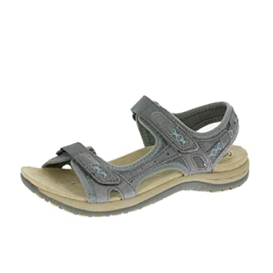 6d5d5bad Earth Spirit Frisco Womens Other Leather Material Sandals Grey - 3 UK