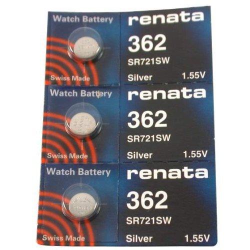 #362 Renata Watch Batteries 3Pcs ()