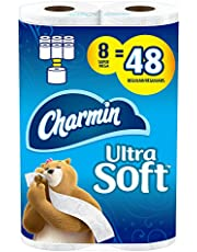 Charmin Ultra Soft Toilet Paper, 8 Super Mega Rolls Bath Tissue = 48 Regular Rolls