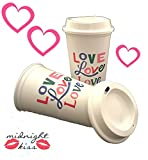 Starbucks Valentines Day 2018 Love Cups Reusable Recyclable Grande 16 Oz (Pack of 2)