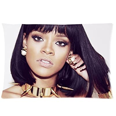 Generic Rihanna King Pillowcases Cotton & Polyester Sofa Pillowcase Cover Decorative Soft Cushion Case Roomy Custom Zippered Pillow Cases 16x24 (Two sides)
