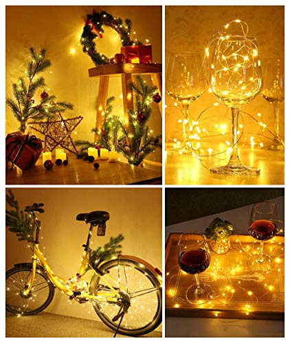 DeepDream 66ft 200 LEDs Fairy Light Battery Powered String Lights Copper Wire 8 Modes Twinkle, Remote Control with Timer… 3