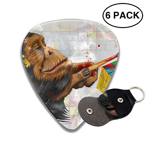 Colby Keats Guitar Picks Plectrums Cube Gorilla Classic Electric Celluloid Acoustic for Bass Mandolin Ukulele 6 Pack 3 Sizes .46mm]()