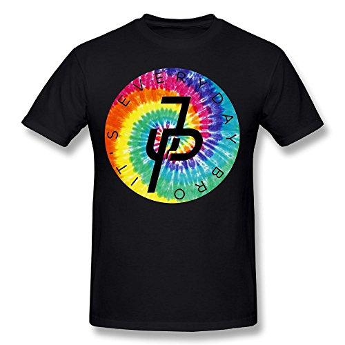 Jake Paul Rainbow Logo Mens Two-Sided T-Shirt Round Collar Short Sleeve Shirt
